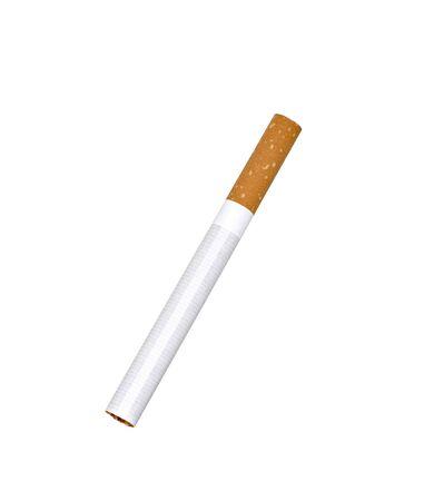 unlit: single unlit cigarette isolated Stock Photo