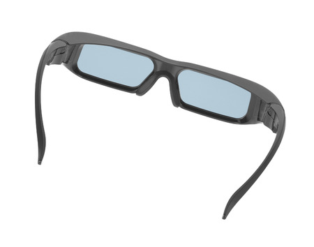 bifocals: Grey glasses isolated on white