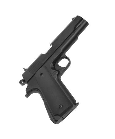 bb gun: Airsoft hand gun Stock Photo