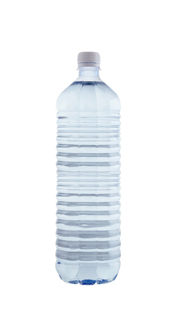 regimen: Bottled water isolated over a white background