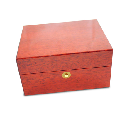 box: Wooden box on white background