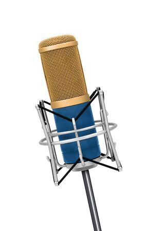 microfono antiguo: Micrófono de la vendimia aislado Profesional