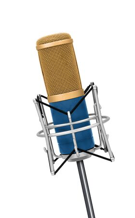 microphone: Professional Vintage microphone isolated