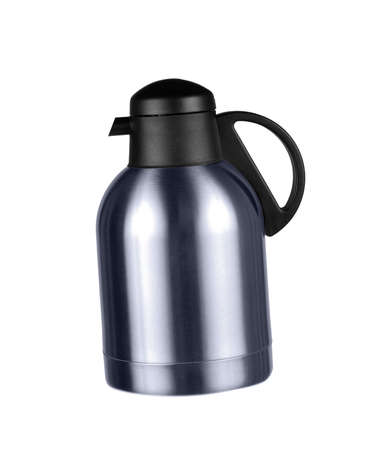 travel mug: Thermos isolated on a white background
