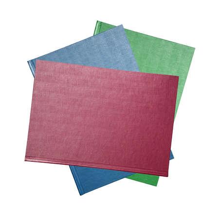 upright: Blank three upright books isolated