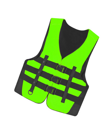 vest in isolated: green vest isolated on the white background