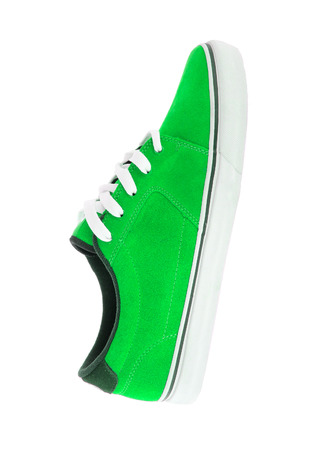 footwork: green sneaker