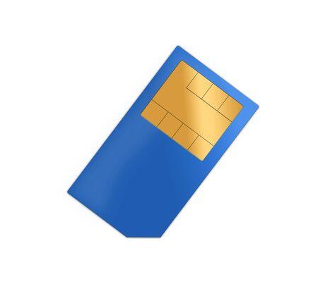 providers: blue sim card Stock Photo