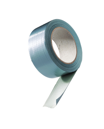 gaffer: reel of adhesive repair tape isolated Stock Photo