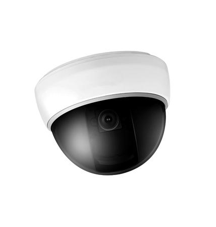 omnipresent: Omnipresent security camera video surveillance globe. Stock Photo