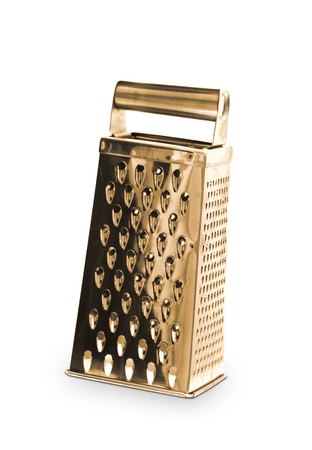 grater: Golden grater Stock Photo