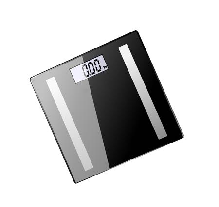 grey scale: Digital Bathroom Scale, Isolated