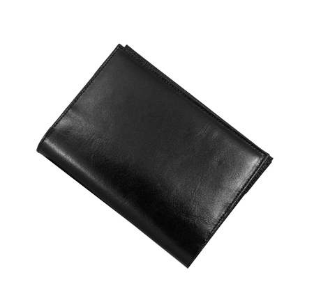 empty wallet: black wallet isolated Stock Photo