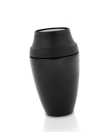 insulated drink container: black Steel thermos