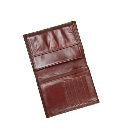 billfold: leather wallet isolated Stock Photo