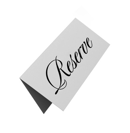 reserved sign: reserved sign isolated over white