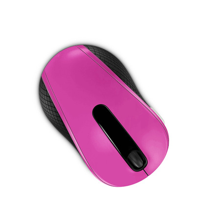 clique: pink computer mouse isolated on white background