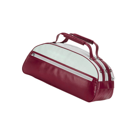 vanity bag: Red Leather Bag isolated