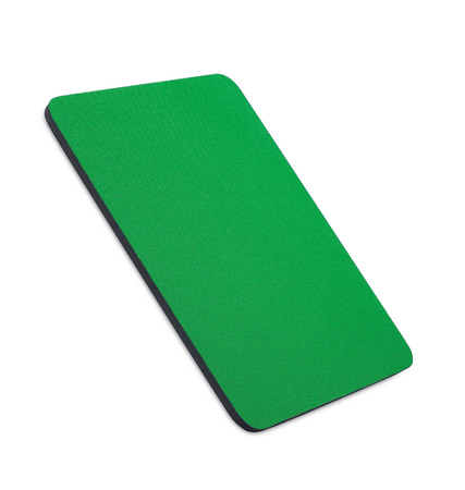 mousepad: green mouse pad on the white background Stock Photo