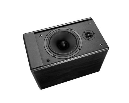 loud speaker: Great loud speaker isolated on white.