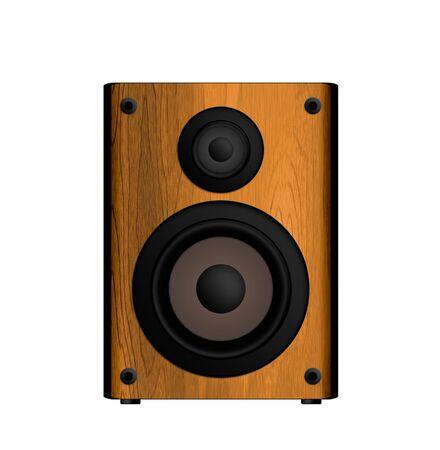 loud speaker: Wooden Loud Speaker Isolated on White