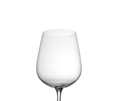 bocal: Empty wine glass, isolated on a white