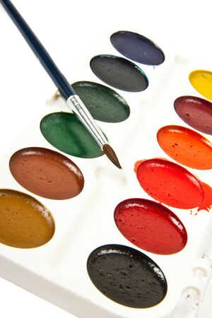 paints: Paints and brushe