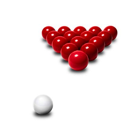 snooker balls: Red snooker balls
