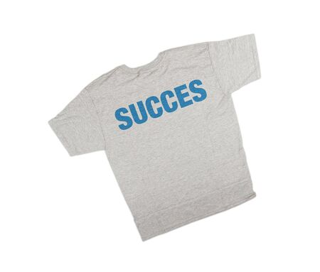 succes: succes  t-shirt isolated on white