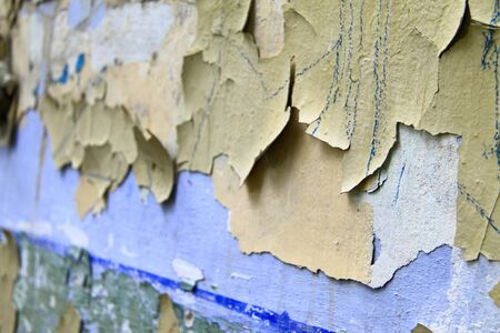crackles: Old paint peeling from wall Stock Photo