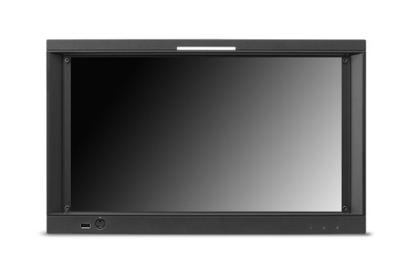 dvi: widescreen lcd monitor isolated on white