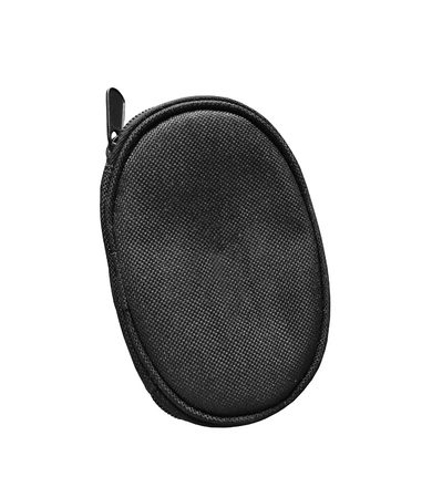 conversing: Black wallet case isolated on white