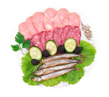 kipper: sausages with kipper fish