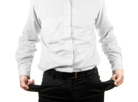empty pocket: Businessman showing his empty pocket