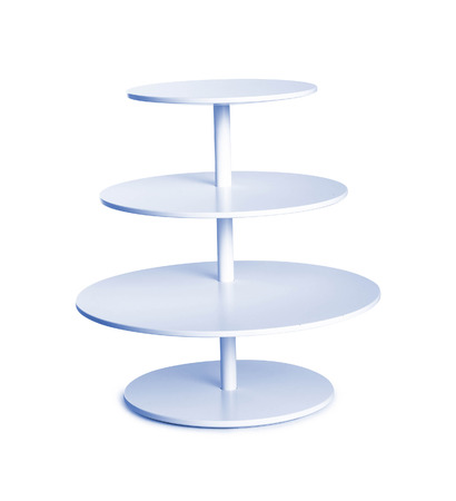 twist: blue twist table isolated on white