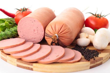 whitem: close up sausage Stock Photo