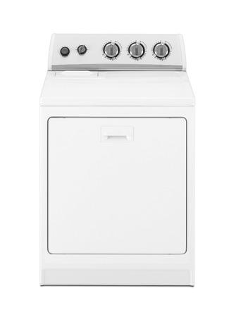 launder: Isolated washing machine on a white background