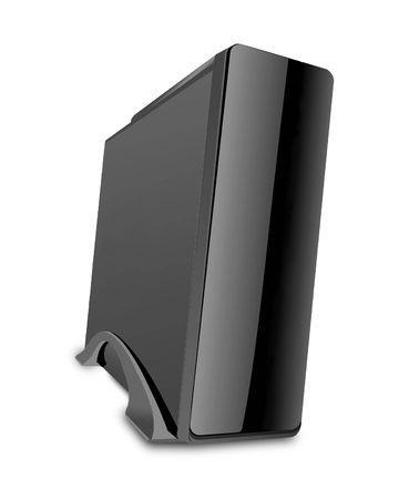 computer case: black computer case isolated on white