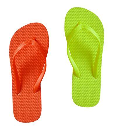sandals: Summer Flip Flop Sandals isolated
