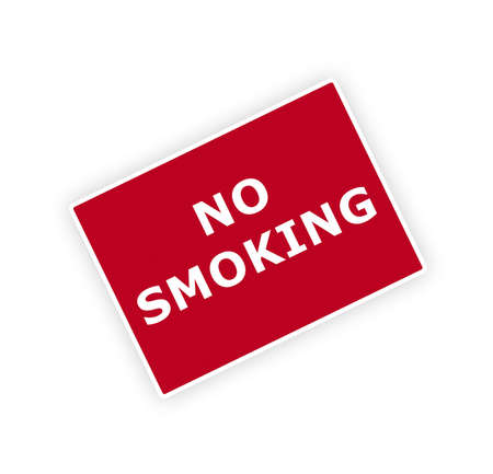 fume: no smoking sigh isolated on the white