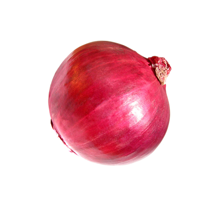 aftertaste: red onion isolated Stock Photo