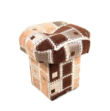 stool: Soft stool on white
