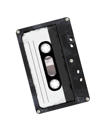 audio cassette: Audio cassette isolated on white Stock Photo