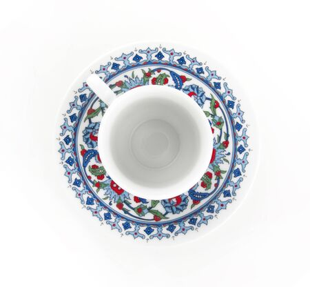 Ornamented teacup top view
