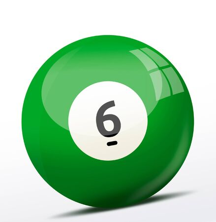 number six: Number six billiard ball