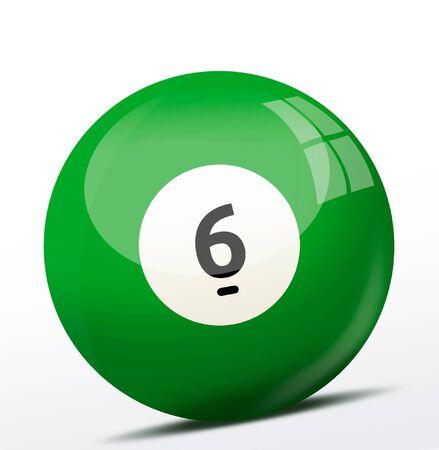 billard: Number six billiard ball
