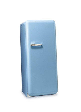 fridge: Blue a retro the fridge