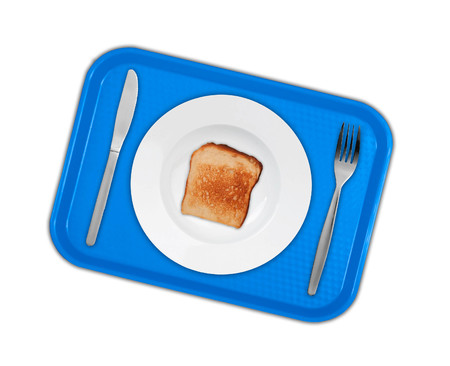 plate and toast Stock Photo