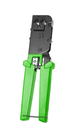 crimper: opened crimper tool isolated on white