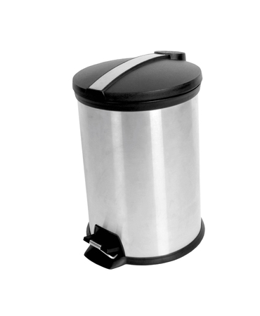 overfilled: office trash can